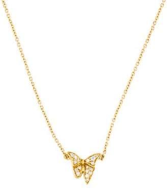 Georg Jensen 18K Diamond Askill Butterfly Pendant Necklace