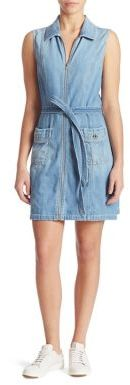 7 For All Mankind Zip-Front Denim Dress $259 thestylecure.com