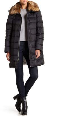 Kate Spade Faux Fur Trim Collar Down Jacket