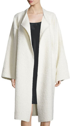 Helmut Lang Long Shaggy Alpaca-Blend Coat, Cream $1,390 thestylecure.com