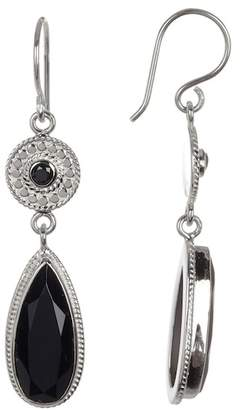 Anna Beck Sterling Silver Black Onyx Drop Earrings