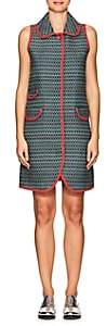Thom Browne WOMEN'S TWEED SMOCK DRESS-GREEN SIZE 42 IT