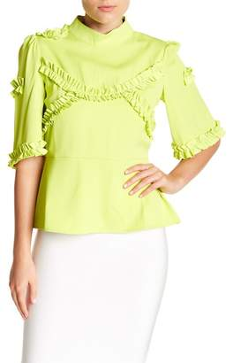 Gracia Frilled Tape Detailed Blouse