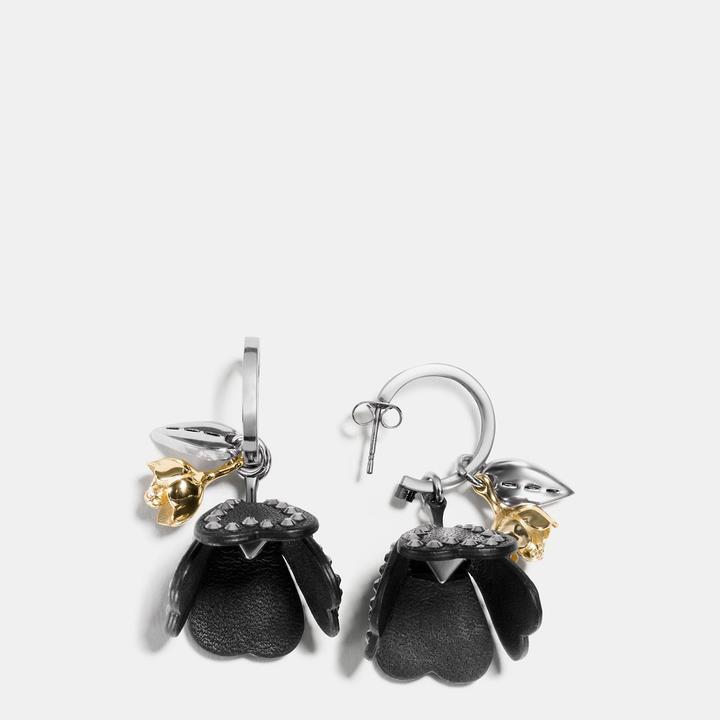Coach  COACH Coach Studded Tea Rose Earrings
