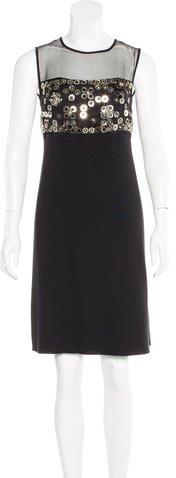 Christian Dior Embellished Knee-Length Dress