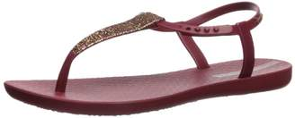 Ipanema Women's Shimmer Flat Sandal, Blue