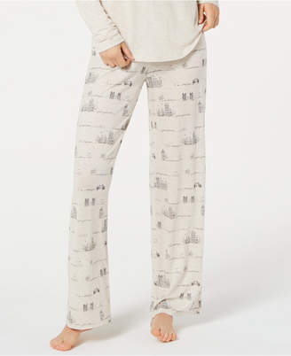 Jenni by Jennifer Moore Printed Knit Pajama Pants