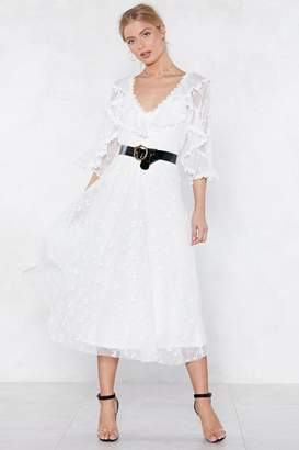 Nasty Gal Your Love Capes Lifting Me Higher Lace Dress