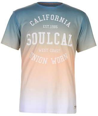 Soul Cal SoulCal Mens Sublime T Shirt Crew Neck Tee Top Short Sleeve Print
