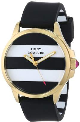 Juicy Couture Women's 1901098 Jetsetter Black and White Stripe Dial Watch