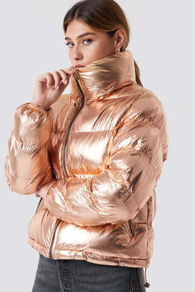 eabc8f16fea5b Glamorous Puffy Short Padded Jacket Rose Gold