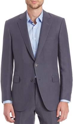 Saks Fifth Avenue BY SAMUELSOHN Classic-Fit Linen & Silk Sportcoat