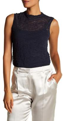 Lafayette 148 New York Sleeveless Knitted Lace Sweater