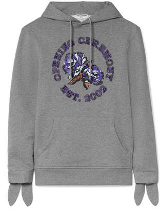 Opening Ceremony Logo-appliquéd French Cotton-terry Hoodie