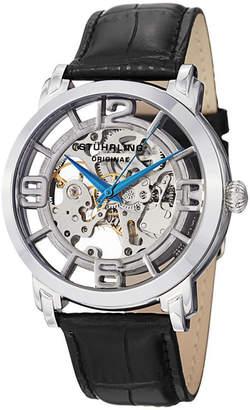 Stuhrling Original Mens Black Strap Watch-Sp11334