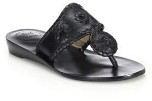 Jack Rogers Capri Leather Mid-Wedge Sandals