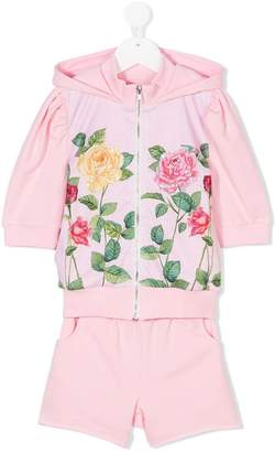Love Made Love floral print hooded tracksuit