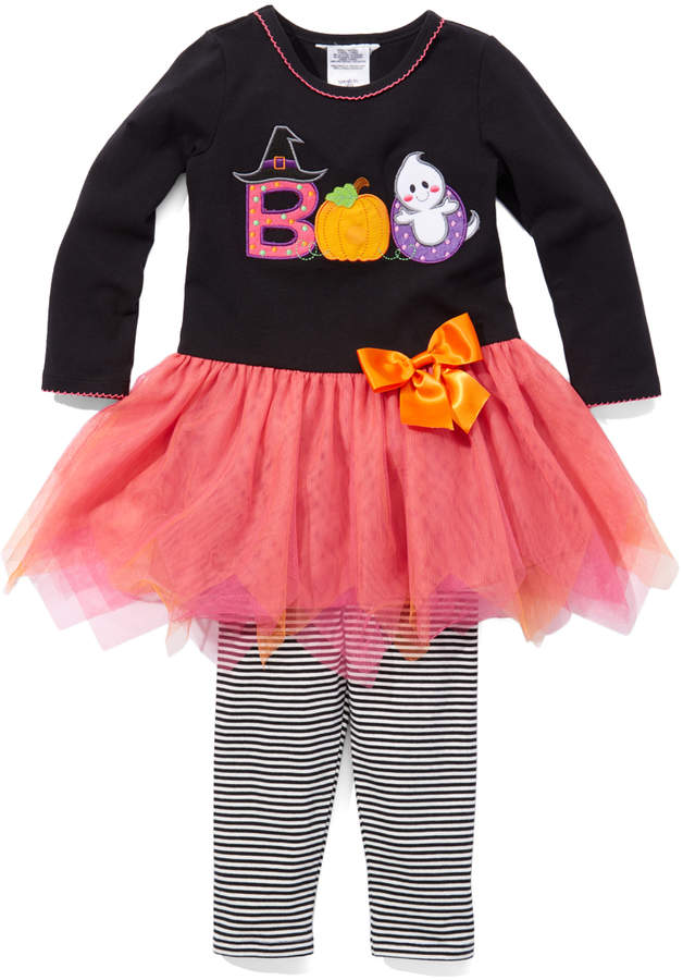 Black 'Boo' Tutu Dress & Leggings - Girls