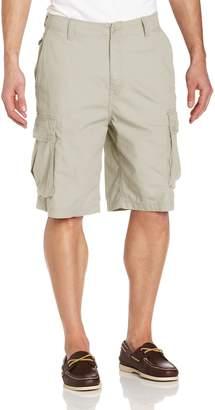 Nautica Men's Mini Ripstop Twill Cargo Short Shorts, Stone,W