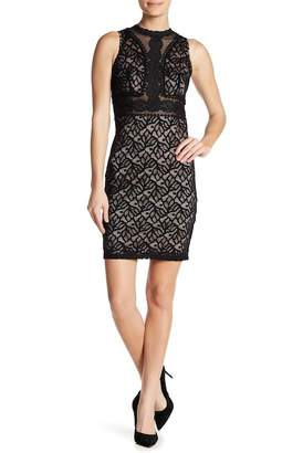 Bebe Illusion Lace Dress