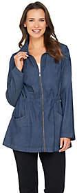 Denim & Co. Long Sleeve Jacket with DrawstringWaist Detail