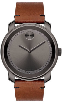 Movado 42mm Large Bold Watch with Leather Strap $595 thestylecure.com
