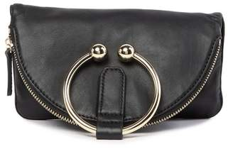 Vince Camuto Tille Leather Foldover Zip Clutch