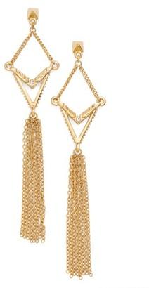 Women's Ettika Geometric Tassel Drop Earrings $45 thestylecure.com