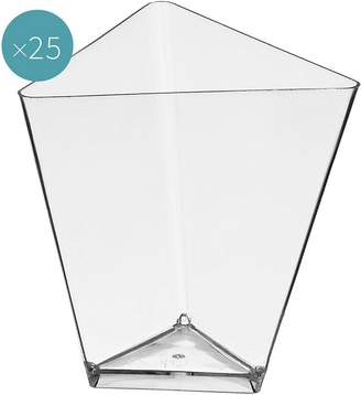 clear Gold Plast Triangle Plastic Dessert Bowl (Set of 25),