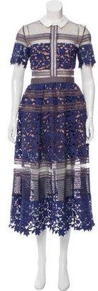 Self-Portrait Guipure Lace Maxi Dress $495 thestylecure.com