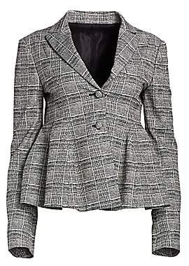 By Any Other Name Women's Glen Plaid Peplum Blazer