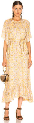 The Great Flutter Sleeve Dress With Belt in Buttercup Floral | FWRD