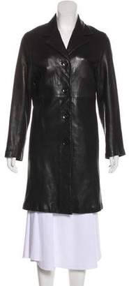 Barneys New York Barney's New York Knee-Length Leather Coat