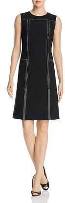 Lafayette 148 New York Topstitched Shift Dress