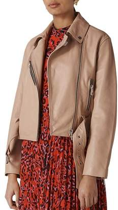Whistles Adriana Leather Biker Jacket