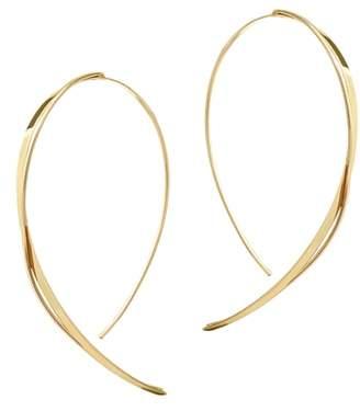 Lana Small Criscross Hooked On Hoop Earrings