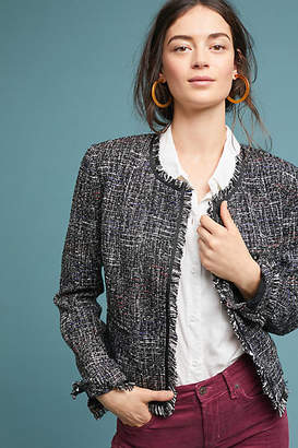 Greylin Tati Fringed Tweed Jacket