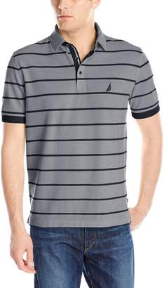 Nautica Men's Striped Oxford Polo Shirt