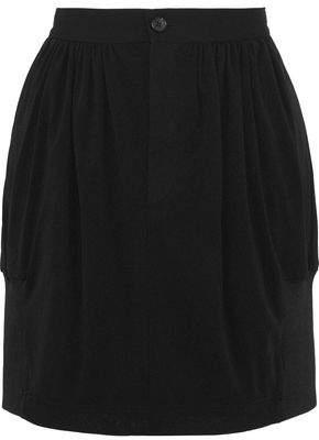 Y-3 + Adidas Gathered Crepe Mini Skirt