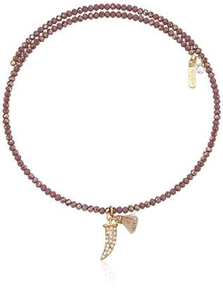 lonna & lilly Gold-Tone and Coil Charm Choker Necklace