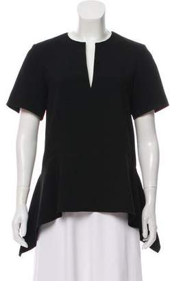 Alexander Wang Short Sleeve Peplum Top