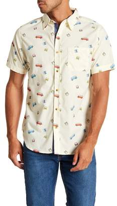 Straight Faded Bus Short Sleeve Modern Fit Shirt