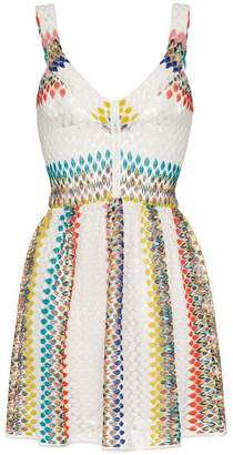 Missoni Mare V-neck knitted zig-zag mini dress