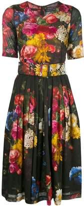 Samantha Sung floral crew neck dress