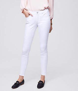 LOFT Petite Curvy Skinny Jeans in White