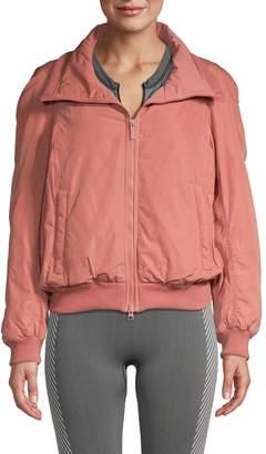 adidas by Stella McCartney Gathered-Back Full-Zip Jacket