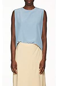 The Row Women's Shelly Silk Top - Chambray