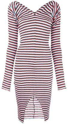 Sonia Rykiel striped stretch midi dress