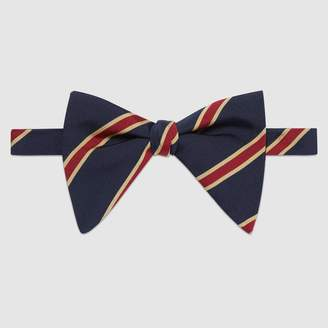Gucci Striped silk cotton bow tie
