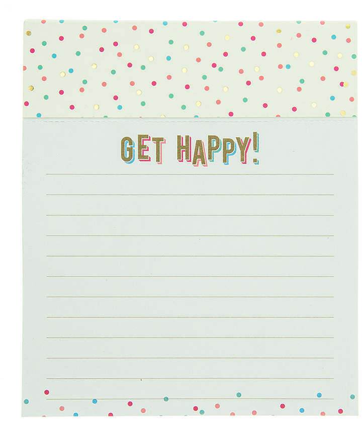 'Get Happy' Jotter Notepad - Set of Two